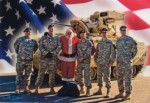 Santa and the Troops