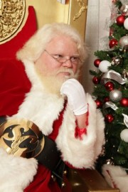 Santa Claus with real beard
