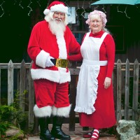 Santa Harley Bob and Mrs. Claus - Santa Claus in Anaheim, California