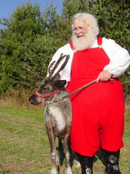 Santa and Reindeer