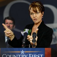 Maria Plesca as Sarah Palin - Dancer in West Palm Beach, Florida