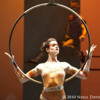 Sasha Harrington, aerial acrobat - Traveling Circus in San Jose, California