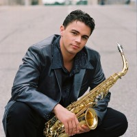 Saxophonist Justin Young - One Man Band in Norman, Oklahoma