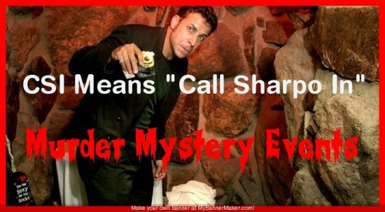"CSI means ""Call Sharpo In!"