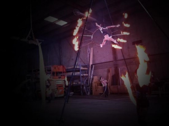 Aerial Flame Hoop