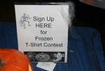 Frozen t-shirt contest