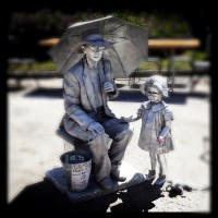 Silver Lady - Mime in Tampa, Florida
