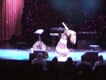 One of Soraya's signature Middle Eastern belly dancing movements....