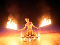 Srikanta Barefoot - Fire Dancer in Newport Beach, California