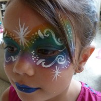 Starburst Face Painting - Temporary Tattoo Artist in Denver, Colorado