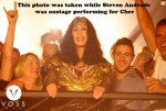 Cher's reaction to Steven Andrade as he was onstage performing for her