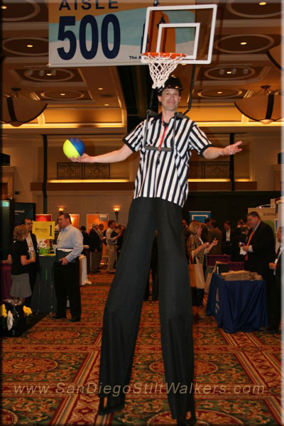 Basketball Stilt Walker