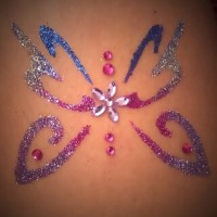 Sunset Skin Care Glitter Tattoos - Body Painter in Paradise, Nevada