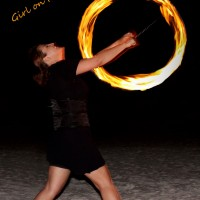 Tampa Bay's Girl on Fire - Stilt Walker in St Petersburg, Florida