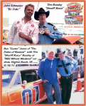"TBC Stars ""Sheriff Rosco"" with ""Bo Duke"" and ""Cooter"" from Dukes of Hazzard"" TV SHOW"