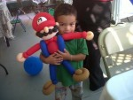 Loves his Mario!
