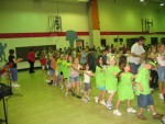 School Concert.  Fun in a Conga Line on the last day of school.