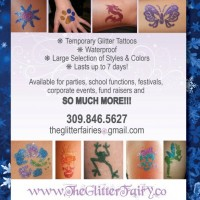 The Glitter Fairy - Temporary Glitter Tattoos - Body Painter in Terre Haute, Indiana