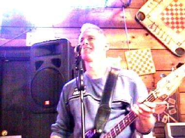 Neil on bass at Galloway Station