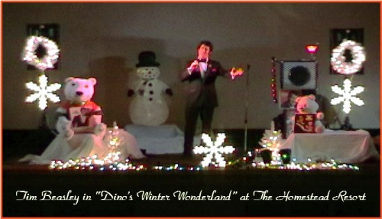 DEAN MARTIN ON STAGE AT THE HOMESTEAD WINTER WONDERLAND SHOW!
