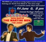 DEAN MARTIN & TOM JONES AT COLONIAL HERITAGE