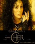 Cher head with banner