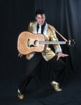 Gold Lame with Leather Guitar