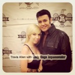 Travis Allen with Lady Gaga impersonator