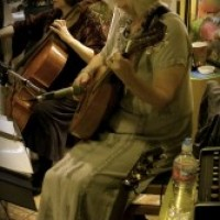 Troubadora ~ duo: cellist with Lute Guitar - Cajun Band in Anchorage, Alaska