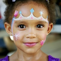 Up Up and Away Face Paint - Temporary Tattoo Artist in Huntington Beach, California