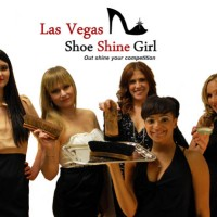 Las Vegas Shoeshine Girl - Female Model in Paradise, Nevada