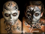 full skull tribal design - tampa, fl face painter
