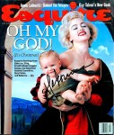Chris America on Esquire Magazine cover signed by Madonna
