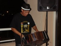 Wayne Hackett steel pan player - Reggae Band in Pompano Beach, Florida