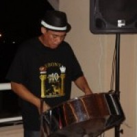 Wayne Hackett steel pan player