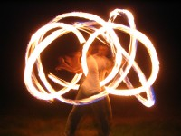 Will's Fire Poi - Dance in Hazleton, Pennsylvania