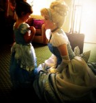 A magical moment between princesses.