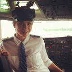 Our adventurous pilot!