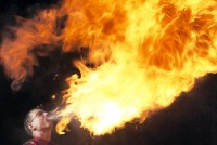 World Record Entertainer - Fire Eater in San Antonio, Texas