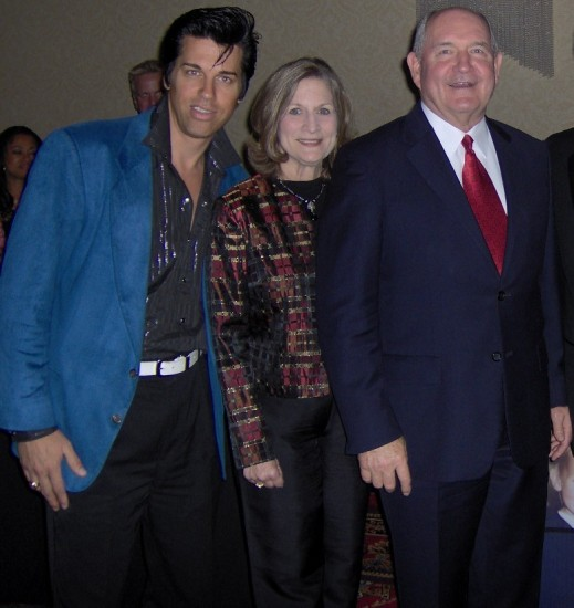 Elvis With Ga Gov. Sonny &amp; Mary Perdue- Ga Gov.