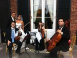 Beautiful outdoor wedding with a string trio from Yoon's Musicians