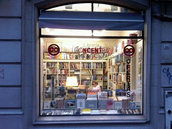 Librería Concentra, exterior