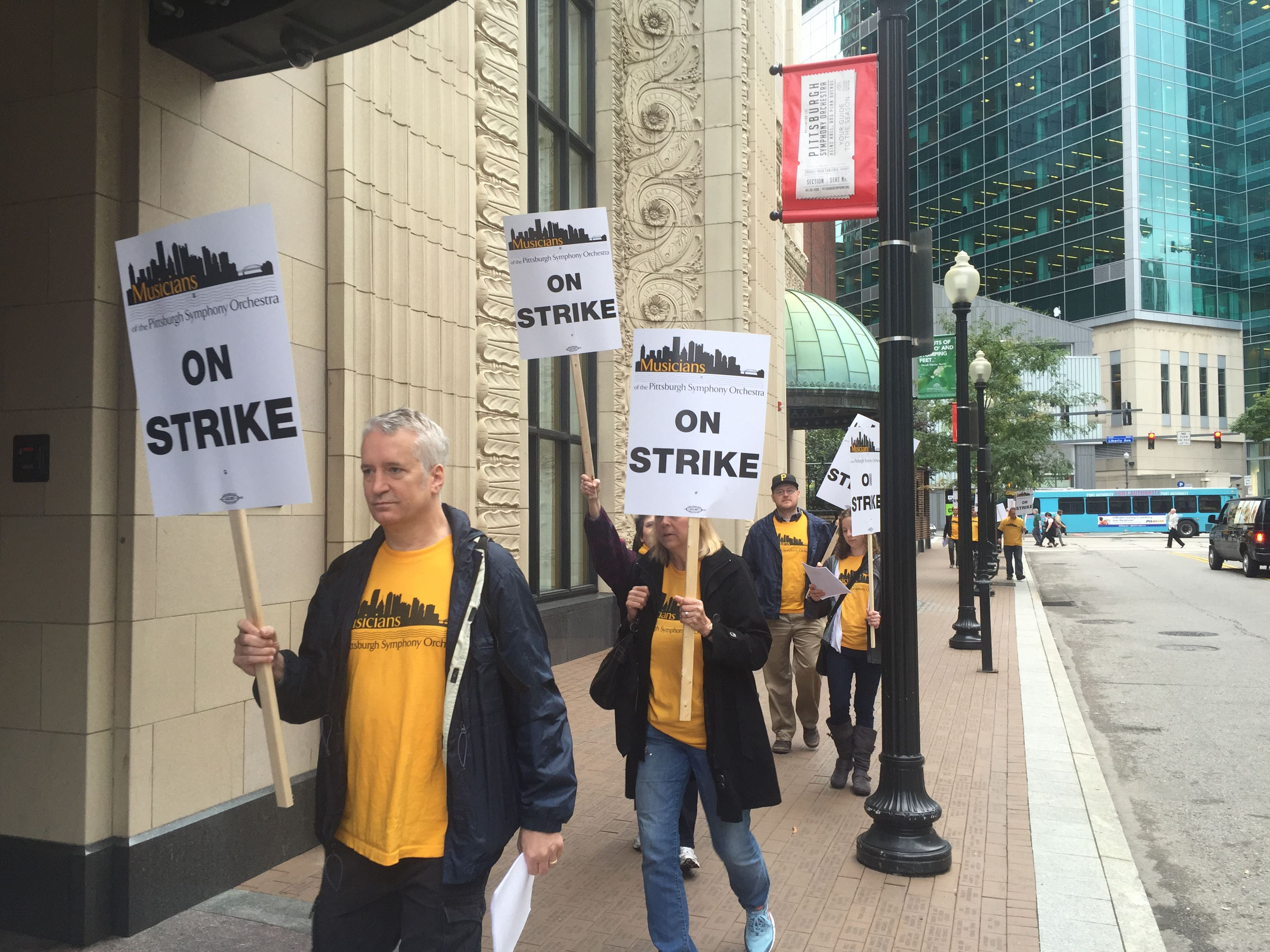 Pittsburgh Symphony picket line