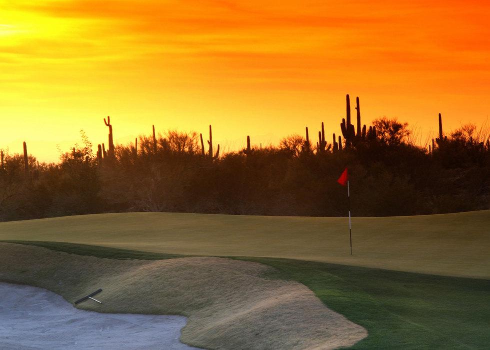 Sandtrap sunset
