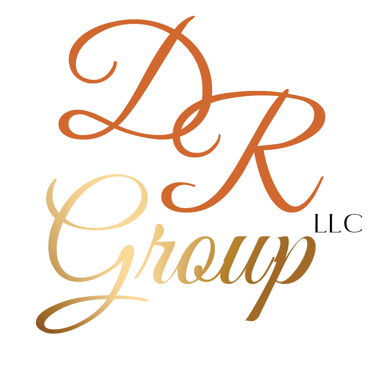 Dr secondary logo orange and gold