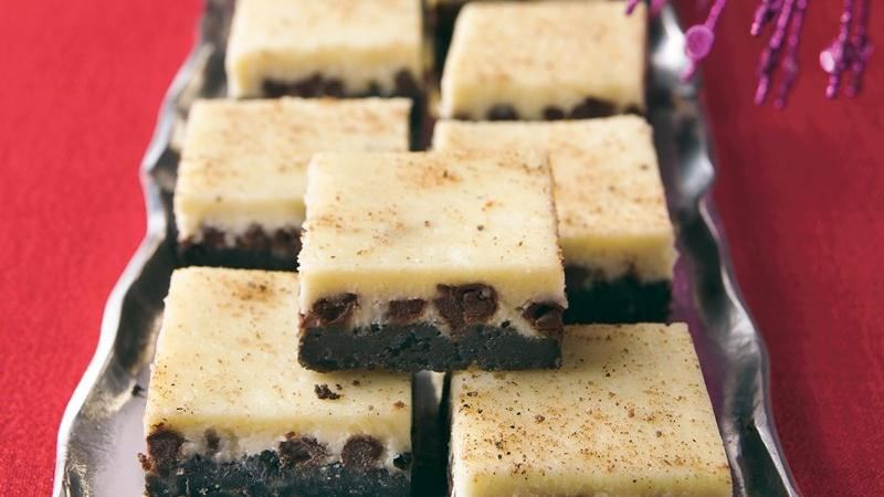 Chocolate-Eggnog Cheesecake Squares