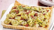 Bacon and Leek Tart  Recipe