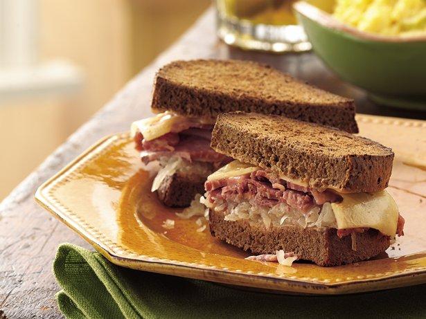 Slow-Cooker Reuben Sandwiches recipe from Betty Crocker