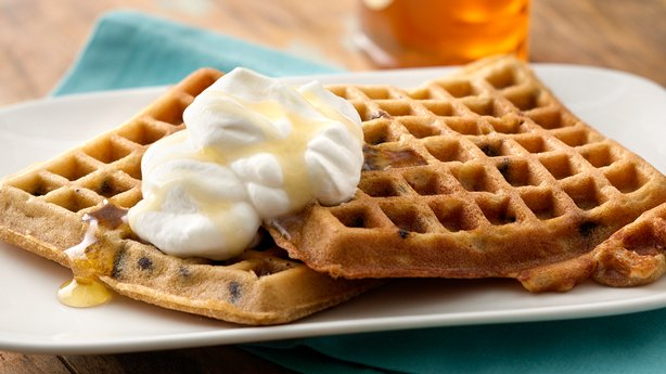 Peanut Butter-Chocolate Chip Waffles