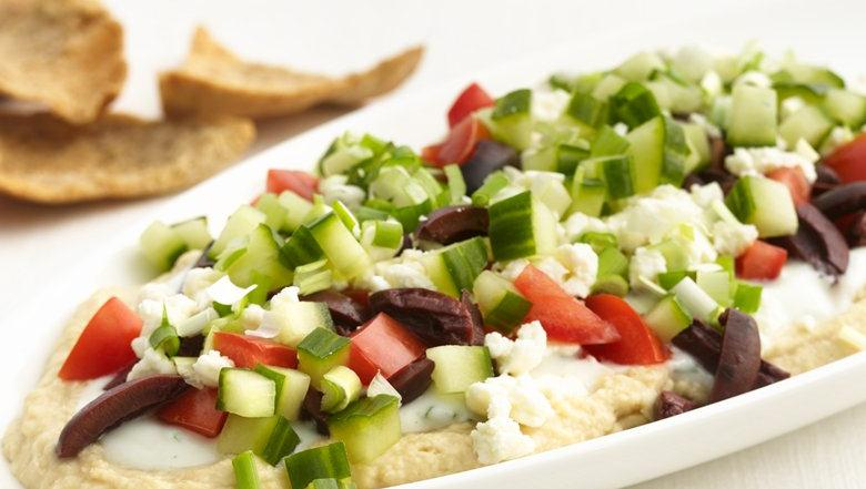 Healthified Greek Layered Dip